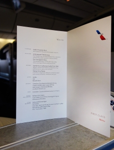 AA Business Class Wine List