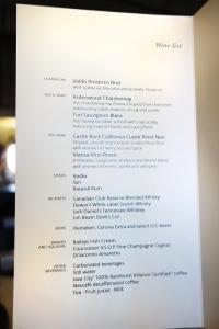 AA First Class Wine List